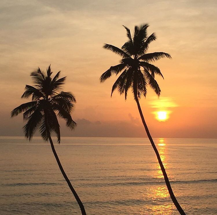 Sunrise in the Seychelles