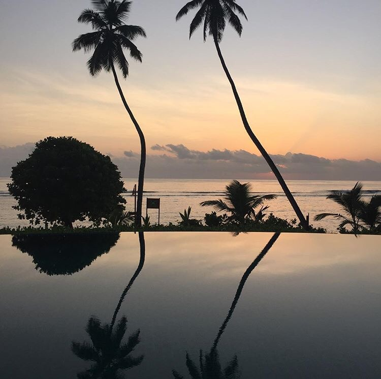 Sunrise in the Seychelles