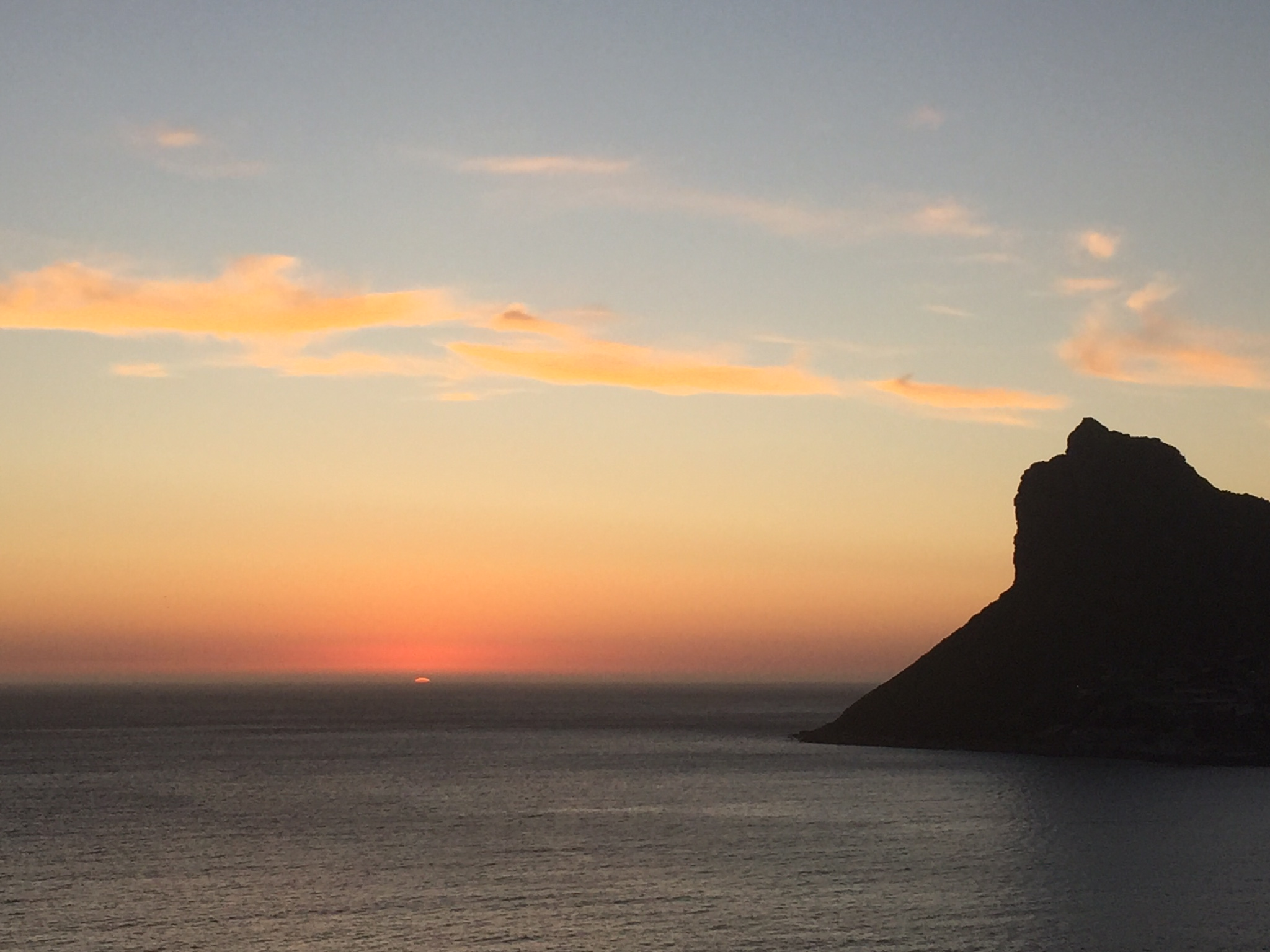 Sunsets in Cape Town - from Chapmans Peak, Hout Bay
