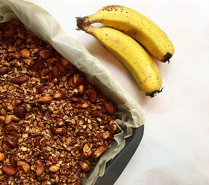 homemade banana granola recipe